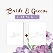 Bride Groom Combo A5 Postcard  1000+1000