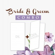 Bride Groom Combo DL Postcard  1000 + 2DL 2 fold 1000
