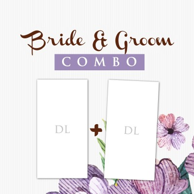 Bride Groom Combo DL Postcard  1000+1000