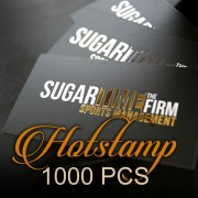 1000 PCS Hotstamp Business Card