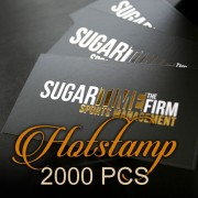 2000 PCS Hotstamp Business Card