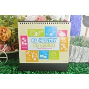 Desk Calendar Ready Made BE HEALTHY BE ACTIVE