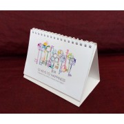 Desk Calendar DIGITAL CUSTOM Made 5.9in x 4.5in