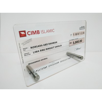 Mock Up Cheque / Cek Full Colour CIMB