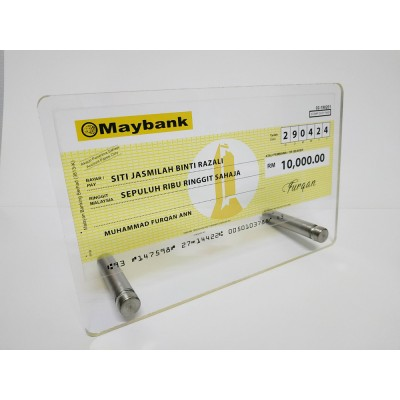 Mock Up Cheque / Cek Full Colour Maybank