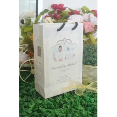 Paper Bag L Royal White