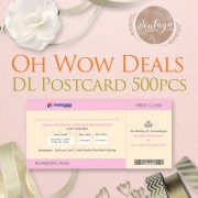 Oh! Wow Deals DL Postcard  500pcs