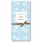 Adore Blue - Brown Ribbon