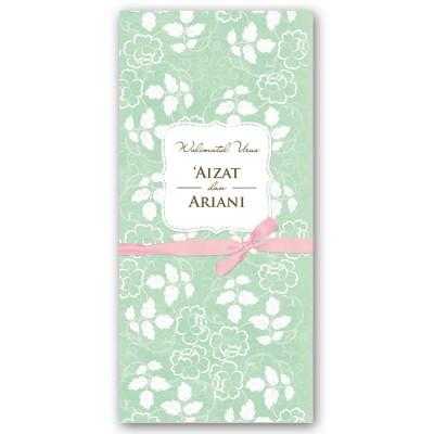 Adore Green - Pink Ribbon