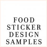 Sticker Design Samples - FOOD