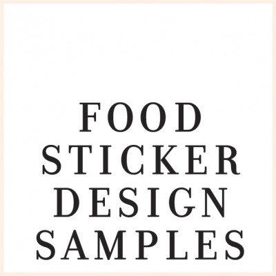 Sticker Design Samples - FOOD