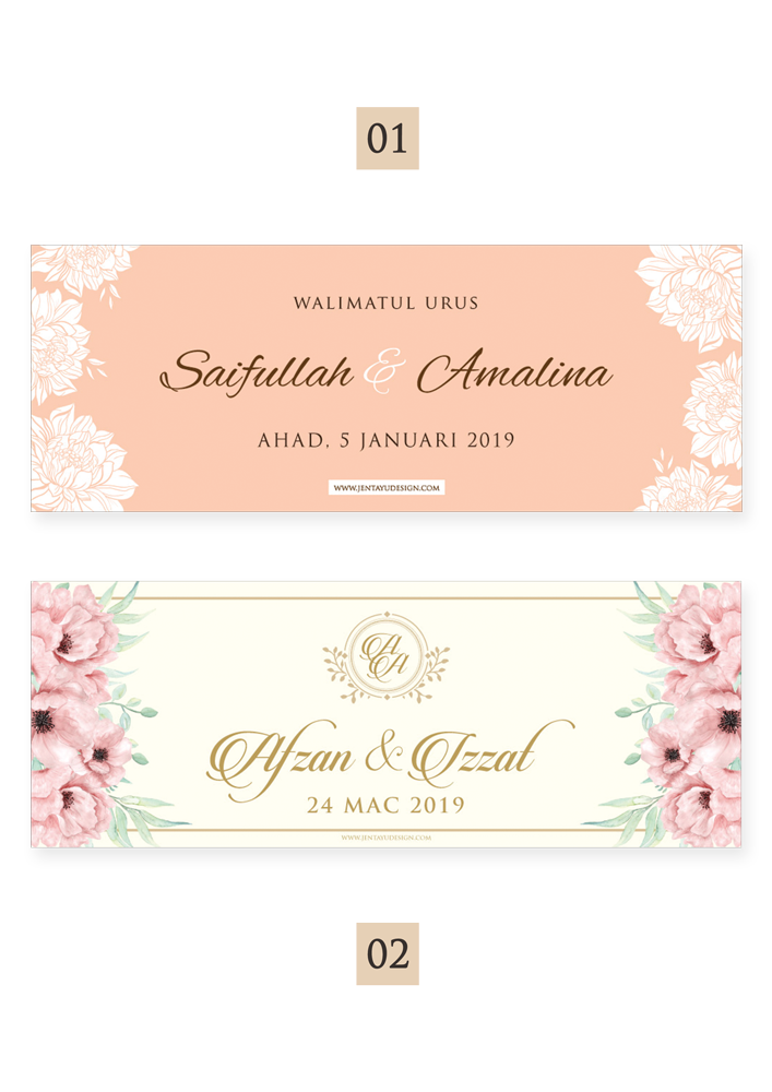 jentayu design wedding banner baner kain rentang kahwin