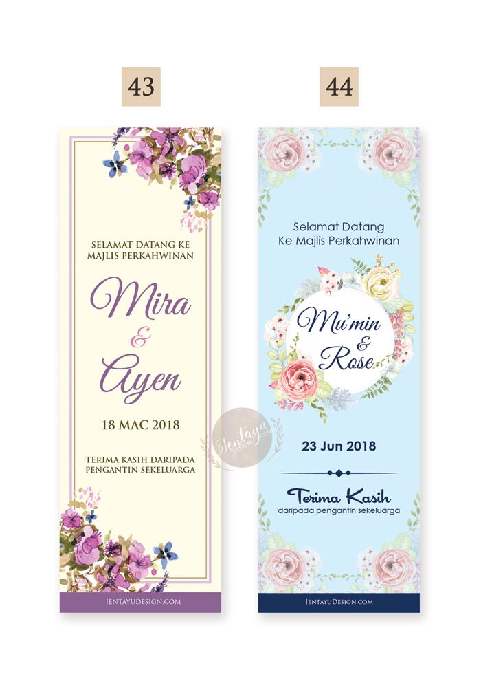 jentayu design banting baner penunjuk arah majlis kahwin bunting banner signage arrow direction wedding