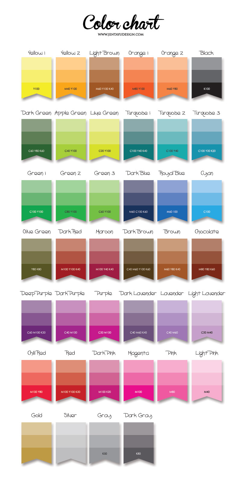 kad kahwin jentayu design 1 colour chart