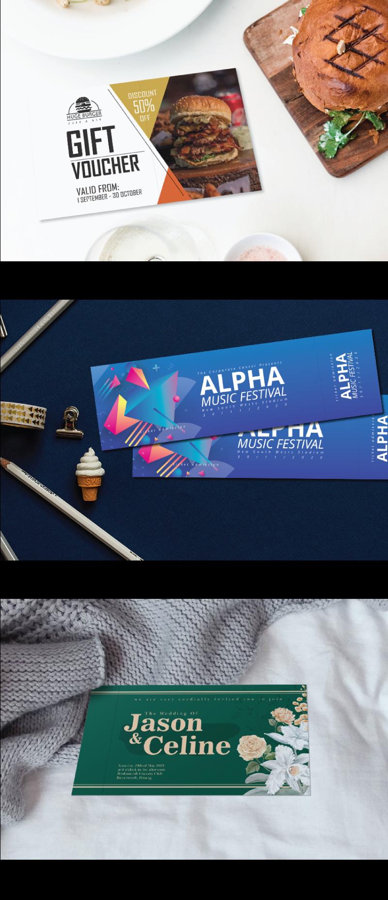 jentayu design voucher ticket baucar tiket